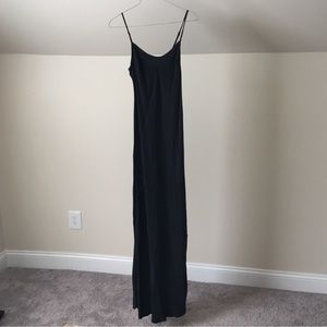 ANTHROPOLOGIE PURE + GOOD Silky Black Maxi Dress